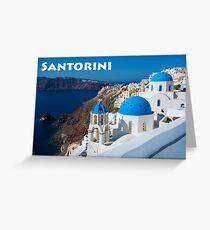 Beautiful Santorini Greeting Card