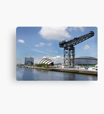 Side view of the main Clydeside, Glasgow, Scotland Canvas Print