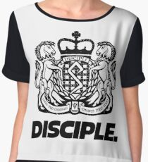 Disciple Label logo Chiffon Top