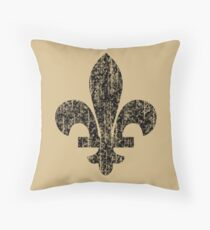 Fleur-de-lis Vintage Throw Pillow