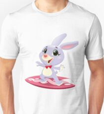 Rabbit surfing Unisex T-Shirt