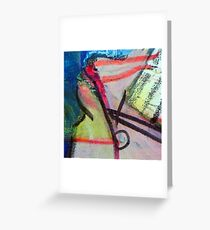 Bumping bumper cars rolling art Greeting Card
