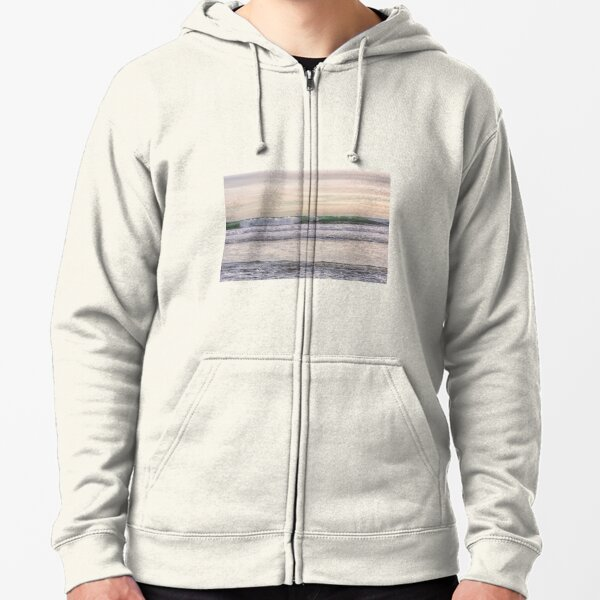 Winter waves at the beach Zipped Hoodie