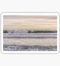 Winter waves at the beach Sticker