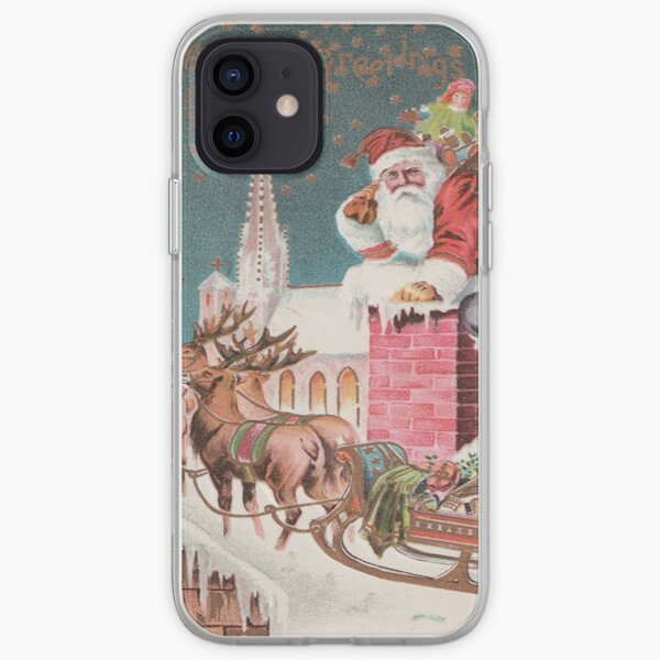 Santa Clause at the Chimney iPhone Soft Case