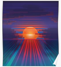 Barcode Sunset Poster