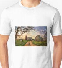 Birch Avenue Farm Painting Unisex T-Shirt