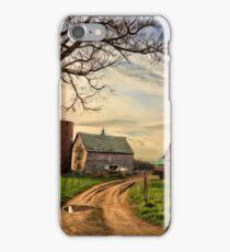 Birch Avenue Farm Painting iPhone Case/Skin