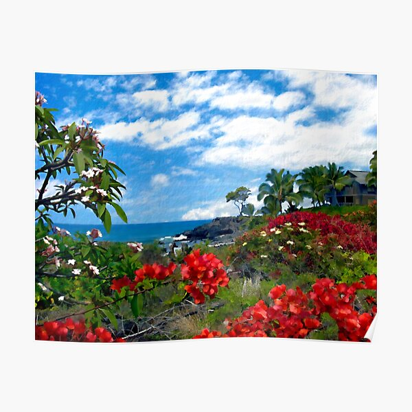 View from Keahou, Kona Poster