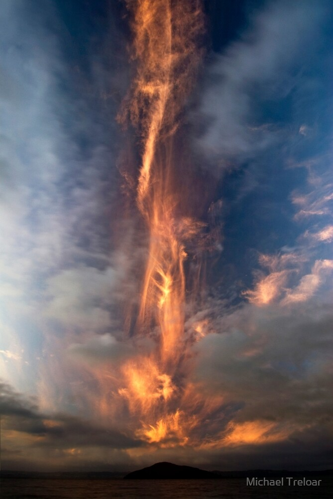 Fire Sword, Mokoia Island. by Michael Treloar