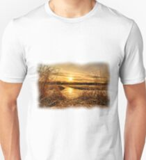 At The Rivers Edge Painting Unisex T-Shirt