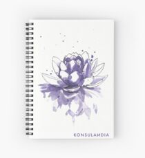 Purple water lilly Cuaderno de espiral