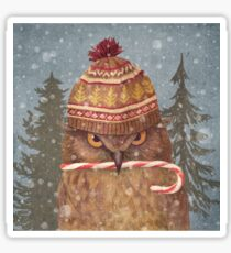 Christmas Owl  Sticker