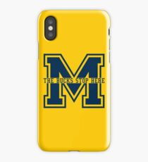 M - The Bucks Stop Here - Blue iPhone Case