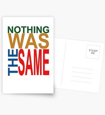 Nothing Was The Same III Postcards