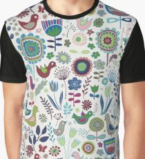 Birds & Blooms - Iznik Graphic T-Shirt