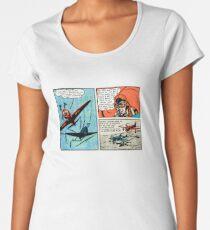 Flat Earth Comics - You'd Fly Off the Globe Women's Premium T-Shirt
