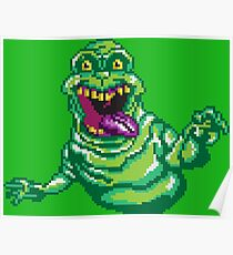 Ghostbusters Slimer Pixel Art Poster