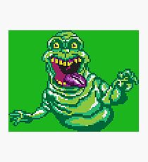 Ghostbusters Slimer Pixel Art Photographic Print