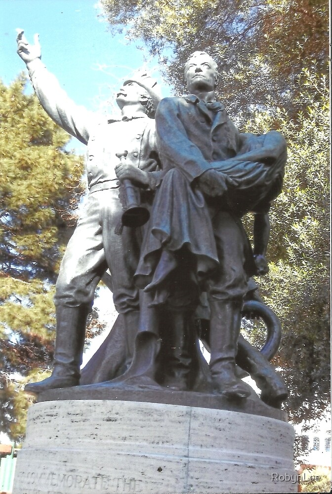 FireFighter's Statue In North Beach,S.F by RobynLee