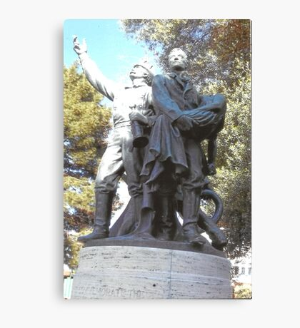 FireFighter's Statue In North Beach,S.F Canvas Print