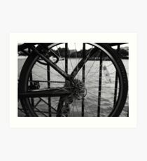 The Thames Through Spokes Art Print
