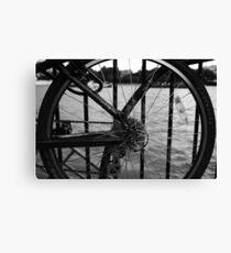 The Thames Through Spokes Canvas Print