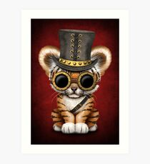 Steampunk-Baby-Tiger-Junges Kunstdruck