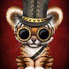 Steampunk-Baby-Tiger-Junges von jeff bartels