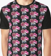 Hot Pink Parrot Tulips Graphic T-Shirt