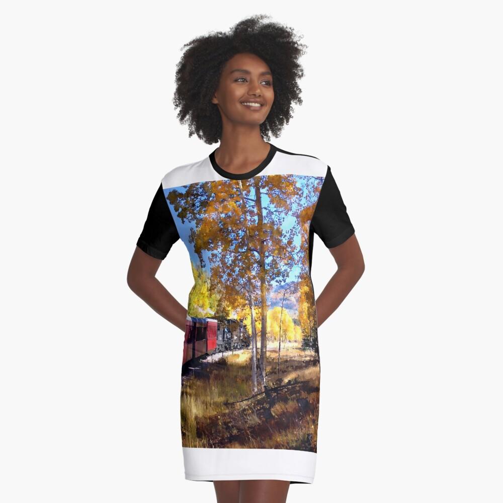Fall train ride Graphic T-Shirt Dress
