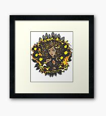 Leo-Queen of Flames Framed Print