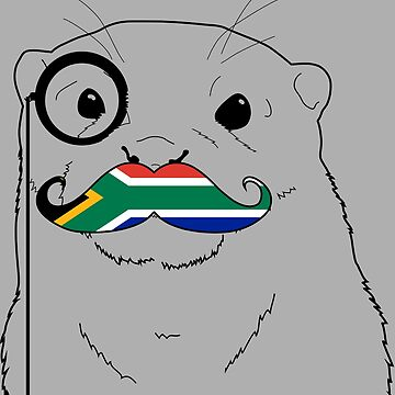 Mustache Flag South Africa by otterglot
