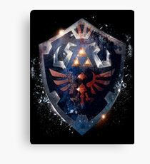 Shield the Legend Of Zelda Canvas Print