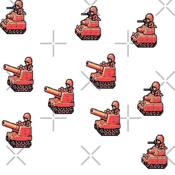 Advance Wars tanks by Cosmox