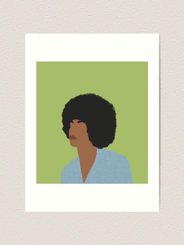 Alternate view of Angela Davis - Feminist Icons and Inspiring Women Art Print