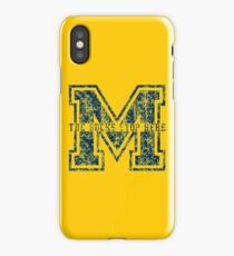 M - The Bucks Stop Here - Blue Vintage iPhone Case