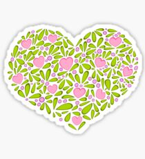 Springtime Heart Sticker