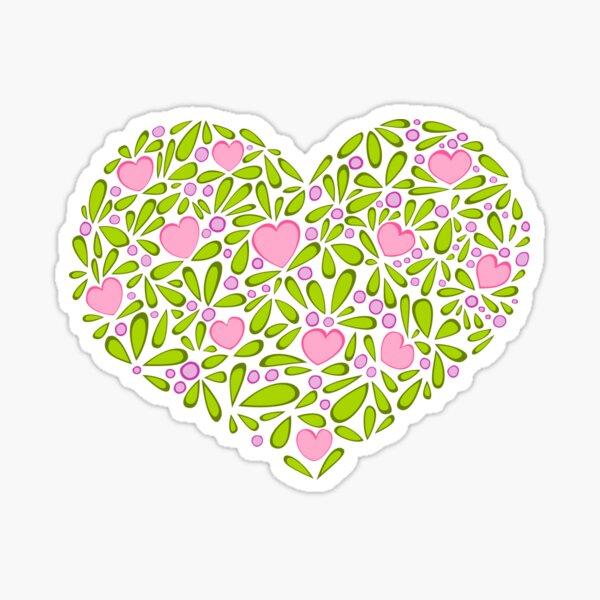 Springtime Heart Sticker