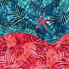Summer Beach Tropical Pattern by oursunnycdays