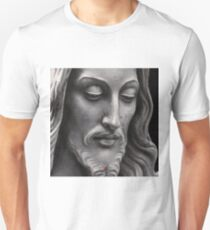 Jesus Sculpture Oil Painting Unisex T-Shirt