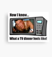 Now I know...What a TV dinner feels like! Metal Print