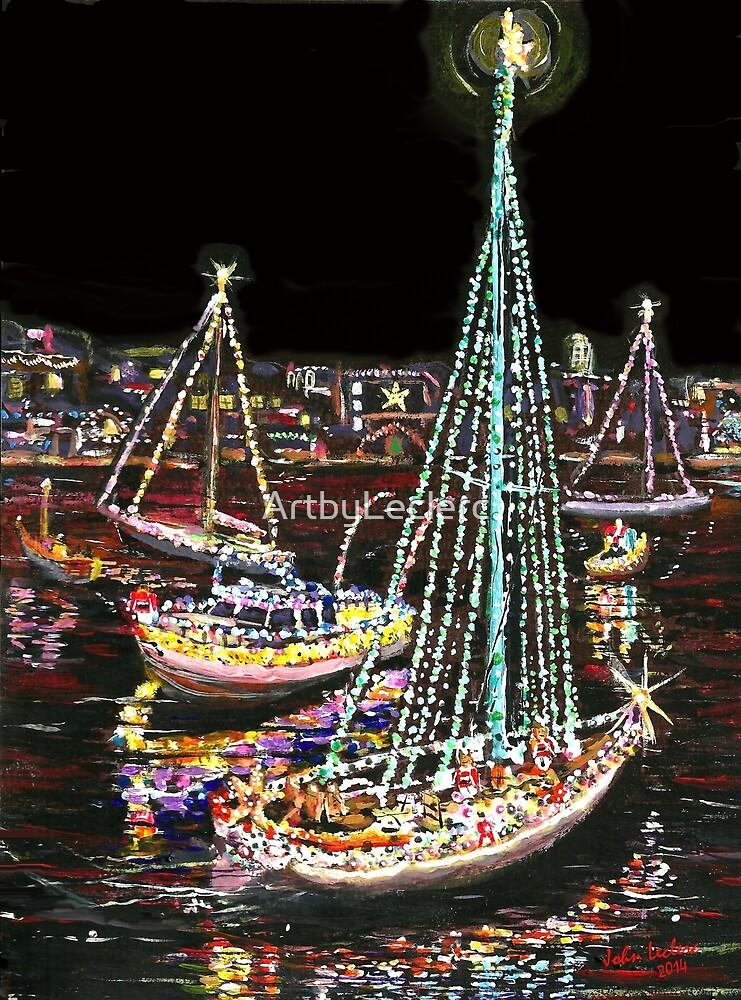 Christmas Boat Parade Newport Beach.Newport Beach Christmas Boat Parade By Artbyleclerc Redbubble