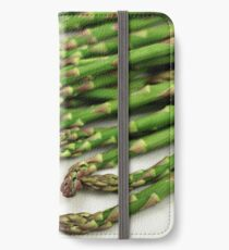A close up image of fresh asparagus iPhone Wallet
