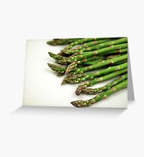 A close up image of fresh asparagus Greeting Card