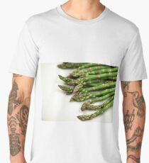 A close up image of fresh asparagus Men's Premium T-Shirt