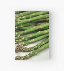 A close up image of fresh asparagus Hardcover Journal