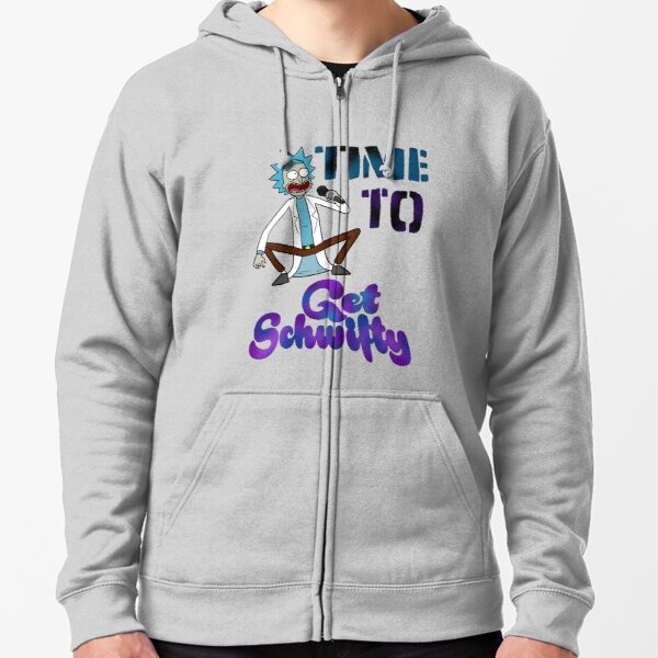 Time To Get Schwifty Zipped Hoodie