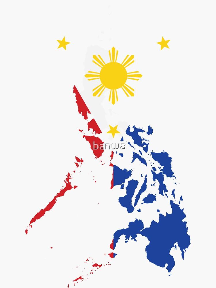 Philippinische Karte Philippinen Flagge von banwa