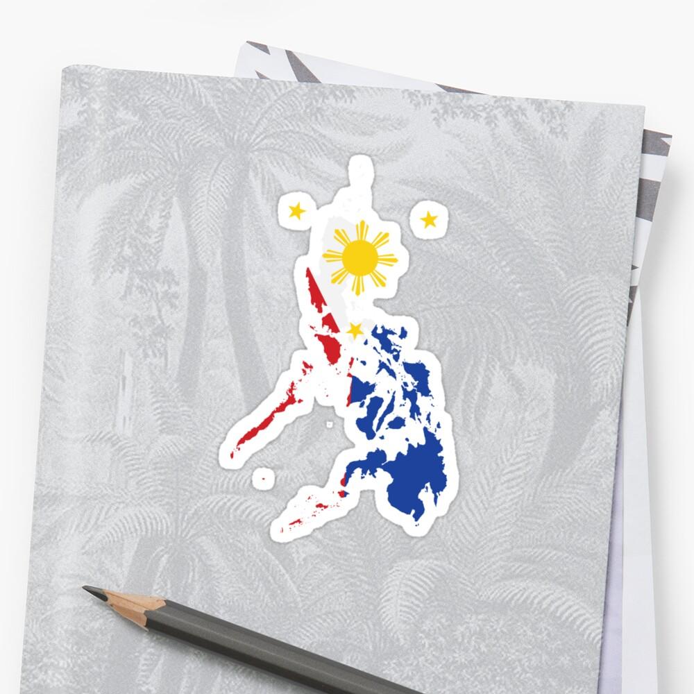 Philippinische Karte Philippinen Flagge Sticker